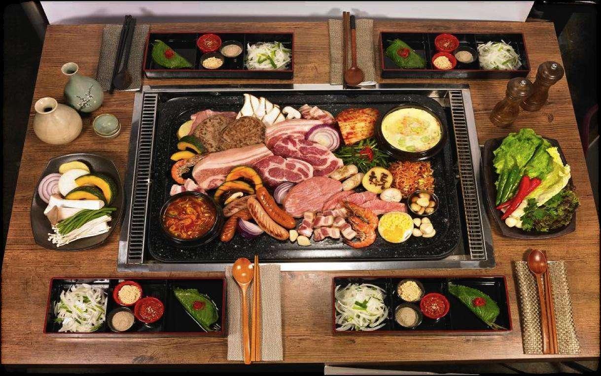 韩式纸上烤肉